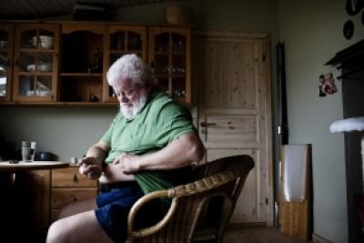 Svend Christensen er diabetiker og styrer selv meget af sin behandling derhjemme med blandt andet insulin